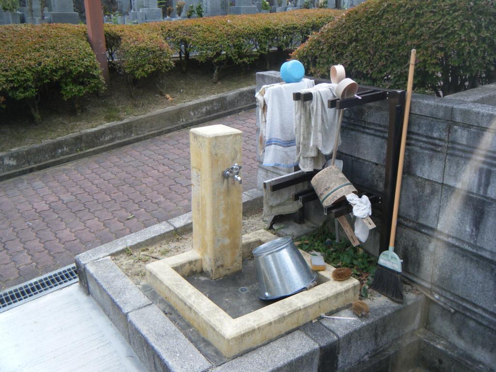 水道バケツなども完備されています。