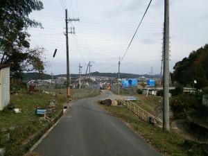 墓地から眺める南郷の景色です