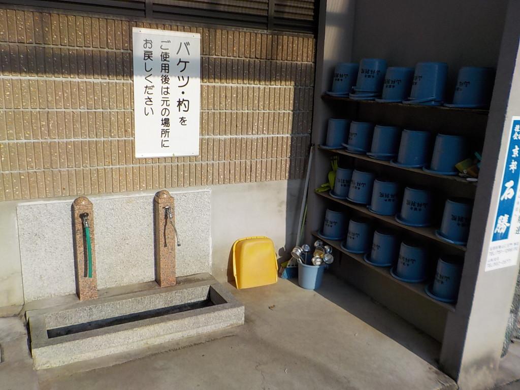 整理整頓がされており清潔感のある水汲み場です