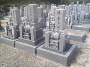 小さな区画の墓碑建立例