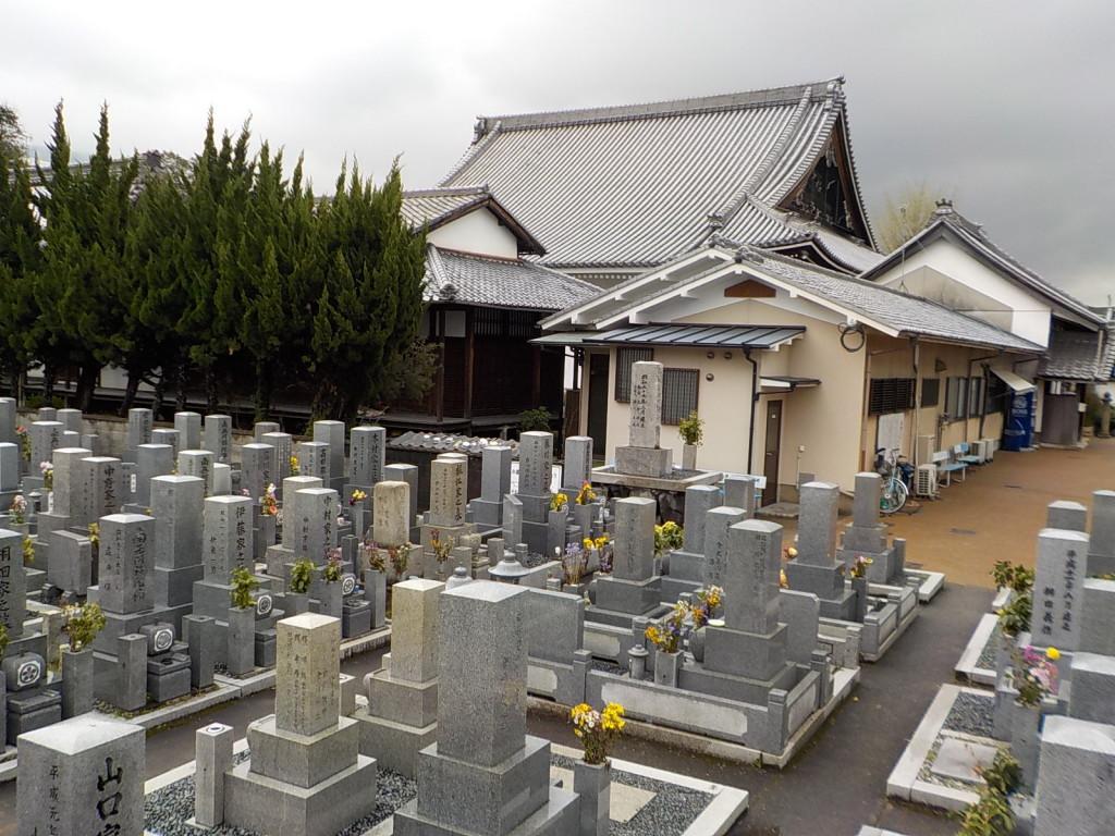 本堂北側に墓地があります。お経が聞こえる環境です。